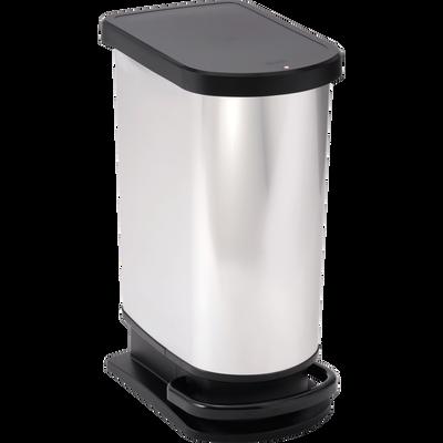 Poubelle à pédale effet métal 50L-Paso