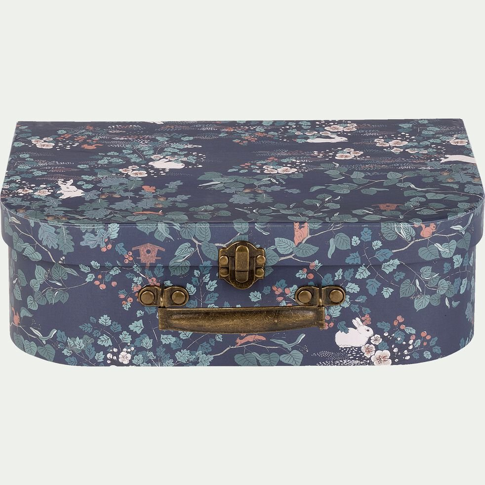 lot de 2 valisettes décoratives motif sous bois-LIMA