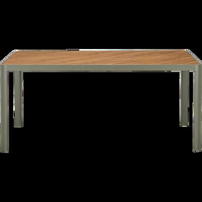 Table de jardin | extensible, pliante, alu, bois | alinea
