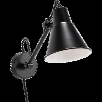 Applique orientable en métal noir H30xD14cm-BEYA