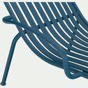 Bain de soleil en aluminium - bleu figuerolles-DOUME