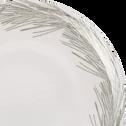 Assiette à dessert en grès blanc D20cm-COURONNE
