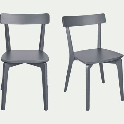 Chaise en bois gris restanque-SUZIE