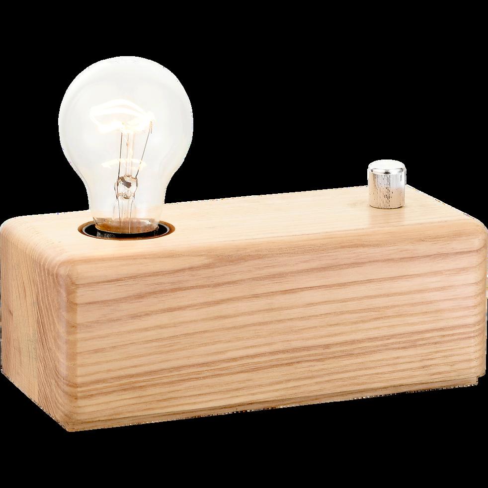 lampe poser en bois intensit variable h7cm carina. Black Bedroom Furniture Sets. Home Design Ideas