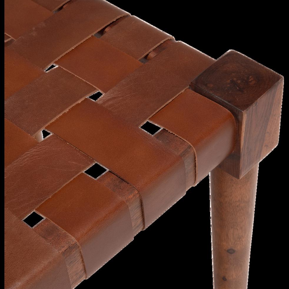 Banc en bois marron ombre-DELES