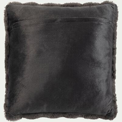 Coussin carré - 45x45cm gris anthracite-CARINO