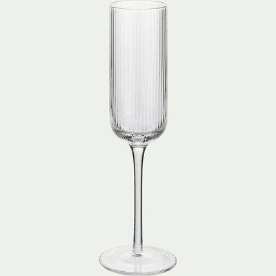 Flûte à champagne en verre strié 24cl-VAVIN