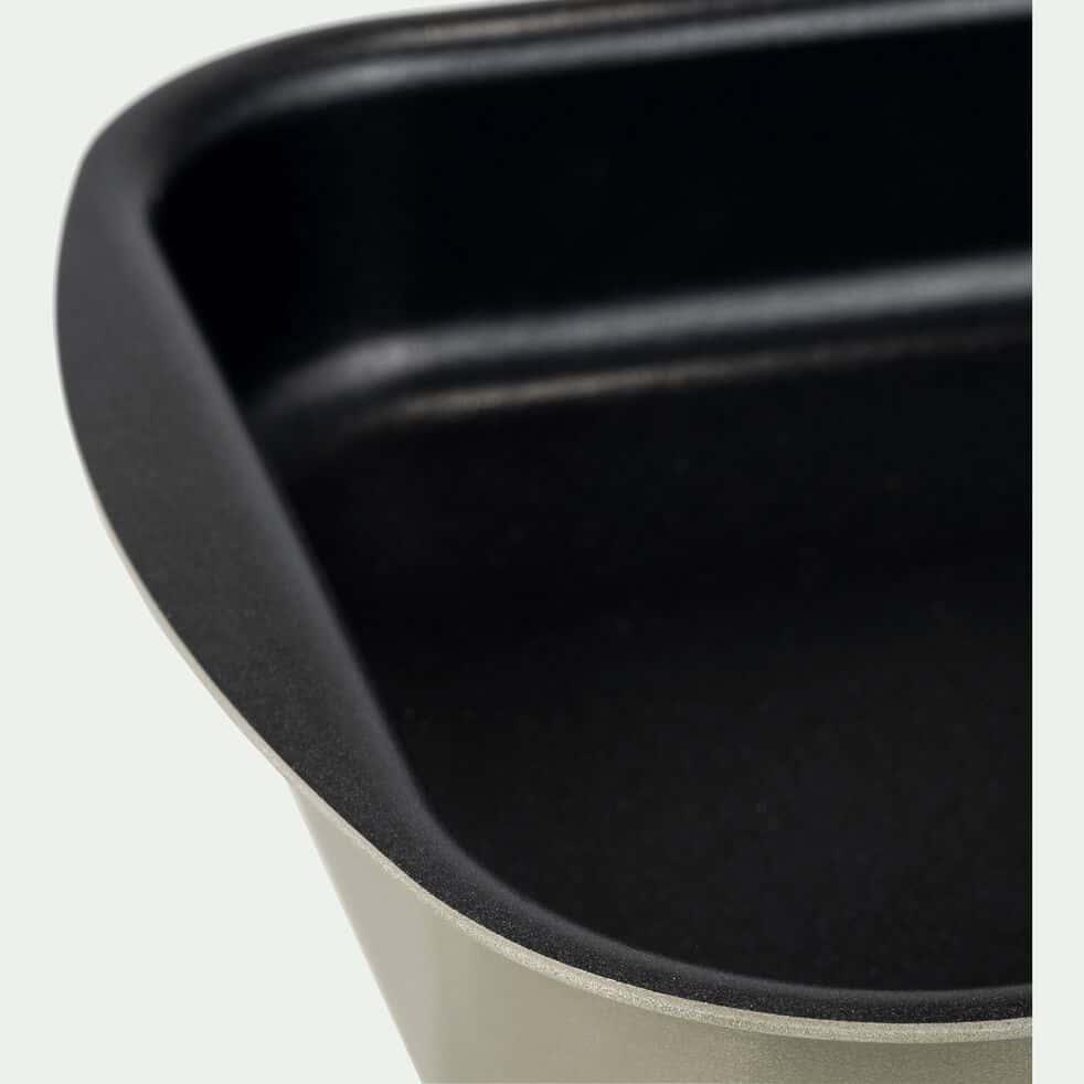 Plat à four rectangulaire en aluminium blanc nougat 20x25cm-PINTO