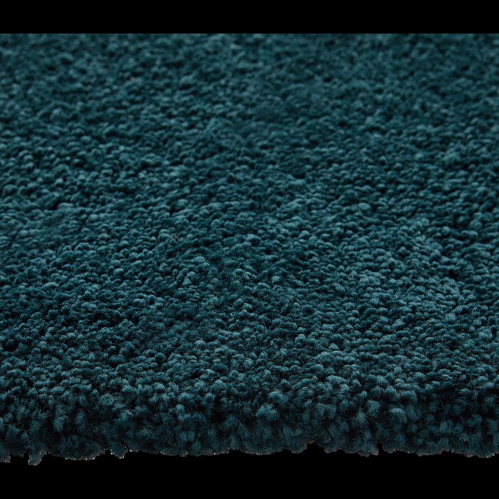 Tapis laineux à motif multicolore - bleu 160x230cm-TUPPO