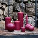 Bougie ronde rouge sumac D6cm-HALBA