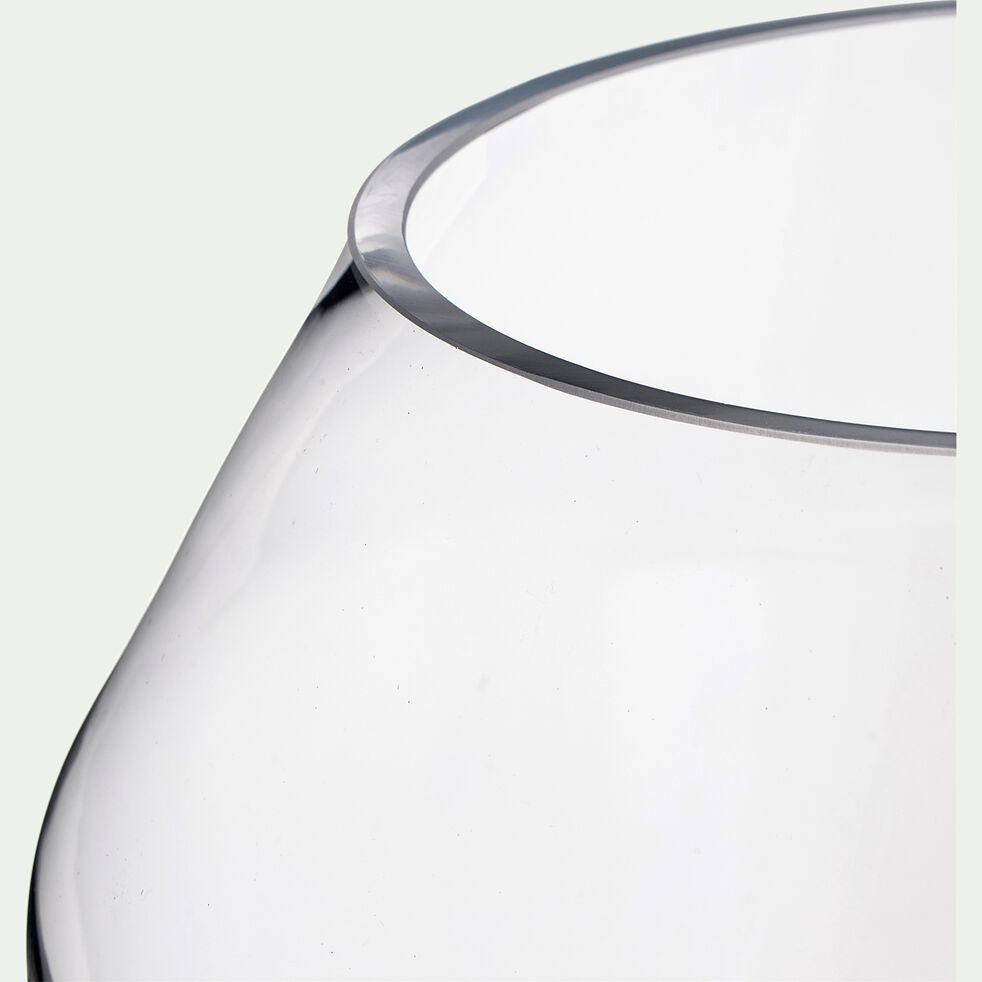 Vase en verre - transparent H40cm-PIBLO