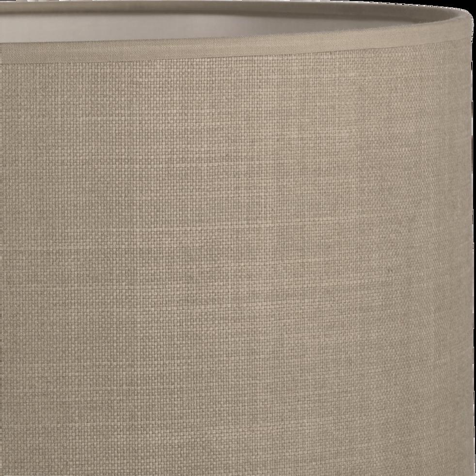 Abat-jour en tissu vert olivier D30cm-MISTRAL