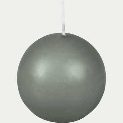 Bougie ronde vert cèdre D6cm-HALBA