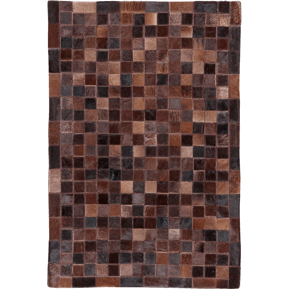 tapis en cuir marron 200x300cm layan 200x300 cm tapis en cuir alinea. Black Bedroom Furniture Sets. Home Design Ideas
