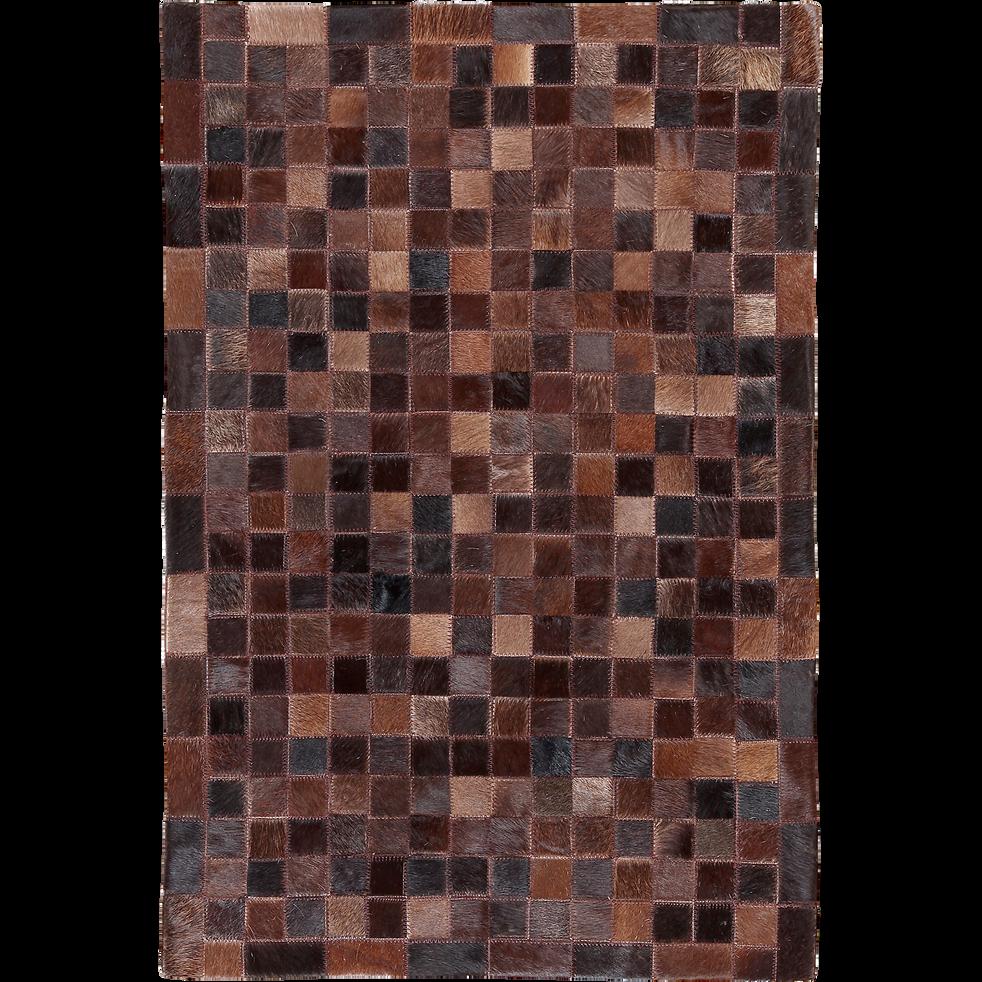 tapis en cuir marron 200x300cm layan 200x300 cm tapis en cuir alinea. Black Bedroom Furniture Sets. Home Design Ideas