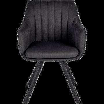 Chaise en tissu gris restanque-OLBIA