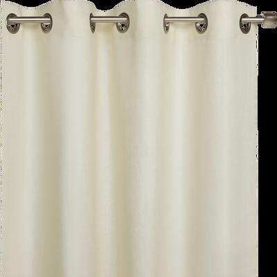 Rideau en lin beige roucas 140x360cm-VALLON