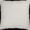 Coussin en coton blanc et doré 45x45cm-DIAMS