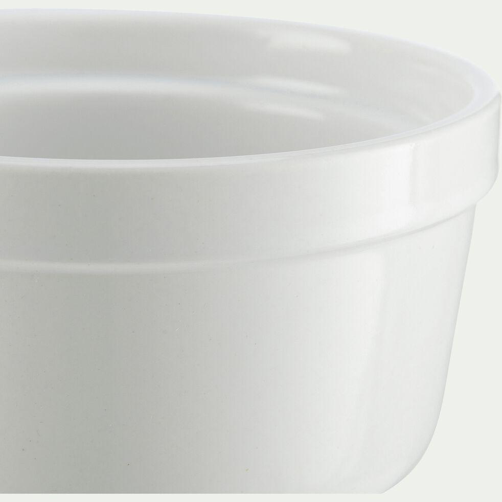 Ramequin en porcelaine blanc D10xH5,8cm-MEROU