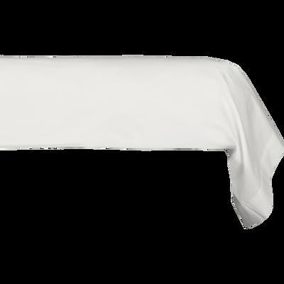 Taie de traversin en percale de coton blanc ventoux 43x190 cm-FLORE