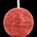 Bougie ronde rouge azérole D10cm-BEJAIA