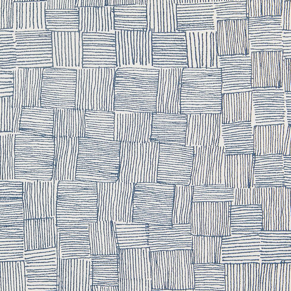 Papier peint intissé motif bleu 10m-GRANS