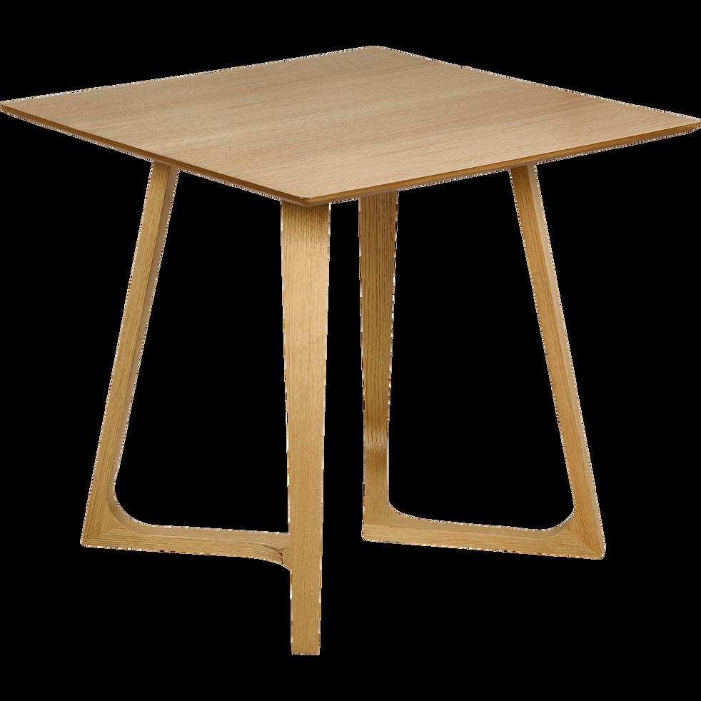 table de repas carr e plaqu e ch ne 4 places ursule 80x80cm tables fixes alinea. Black Bedroom Furniture Sets. Home Design Ideas