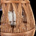 Lanterne en bambou tressé H56 cm-Jadida