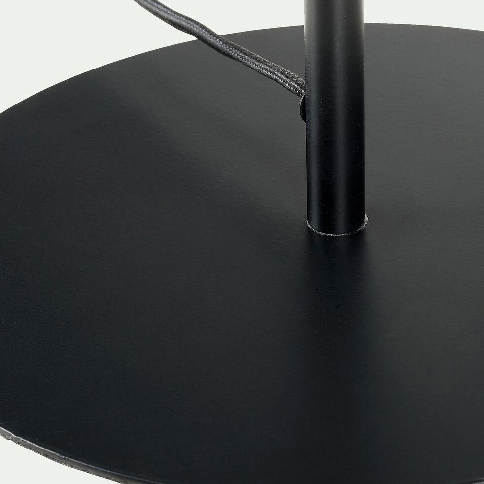 Lampadaire en métal - H146cm noir-NANS