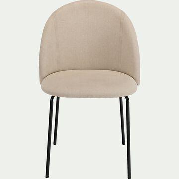Chaise ronde en tissu - beige alpilles-FIONA