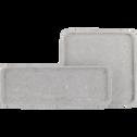 Plateau carré effet béton L24cm-CALCIS