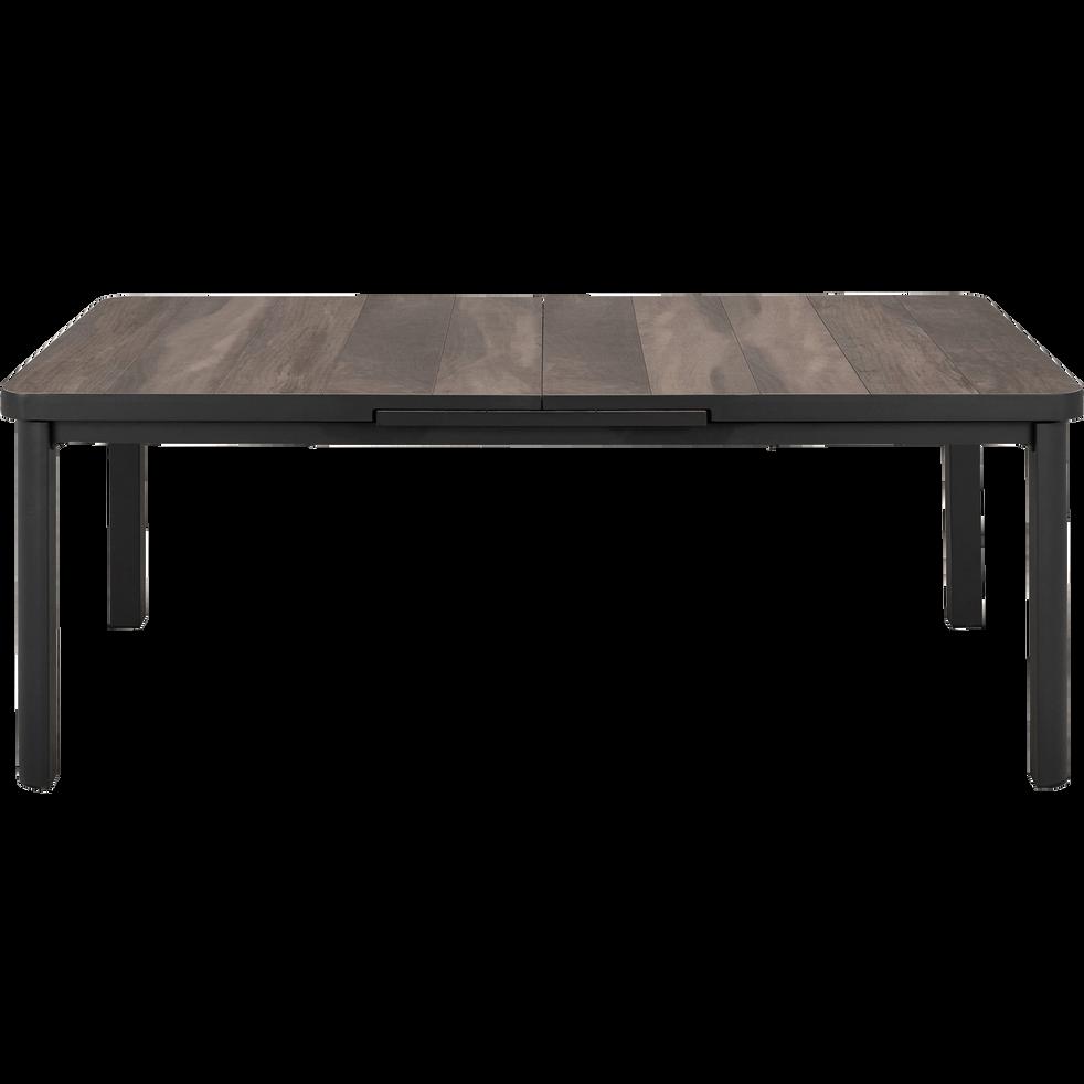 Table de jardin extensible en aluminium gris (6 à 8 places)-SICILE