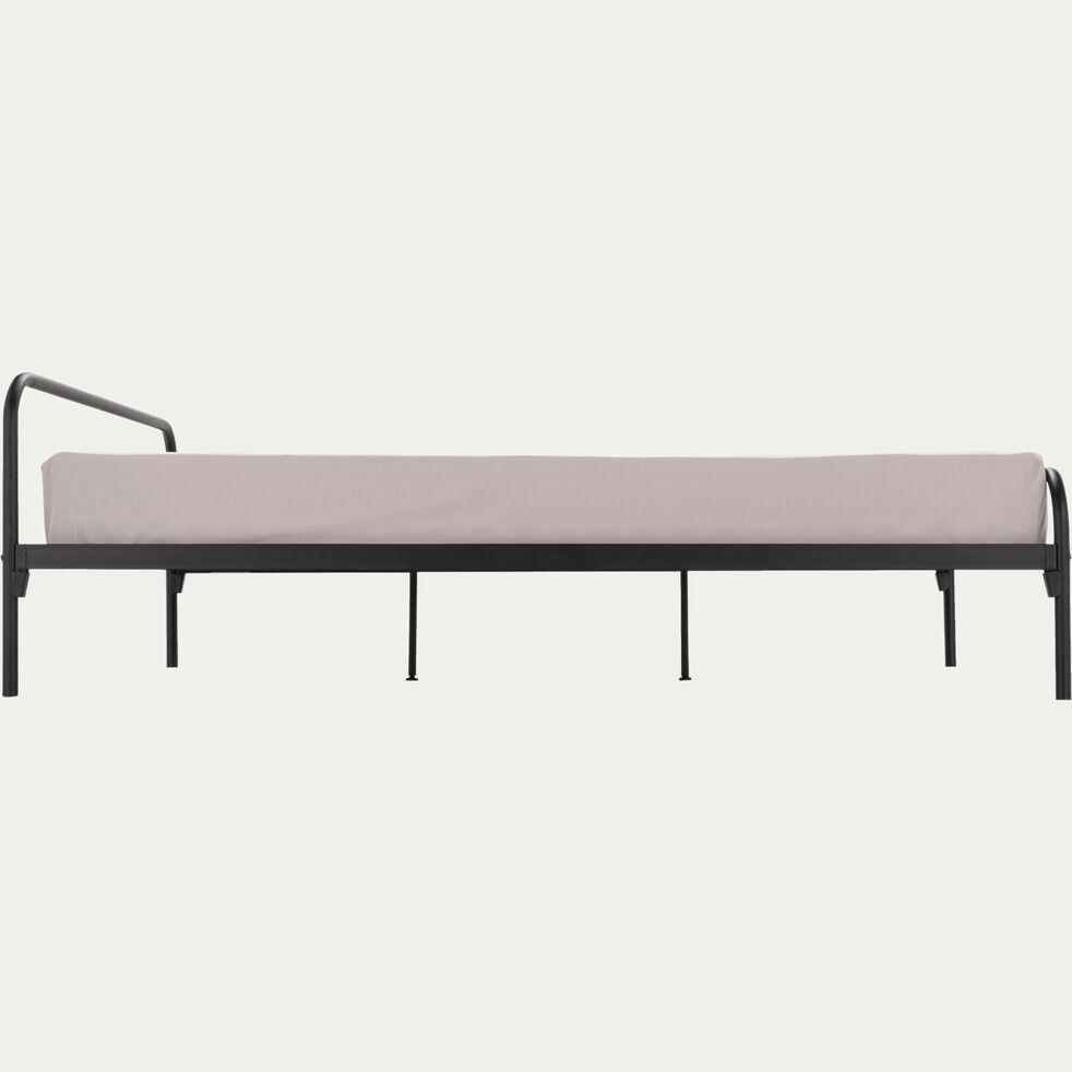 Lit en métal noir 140x200cm-GRIVE