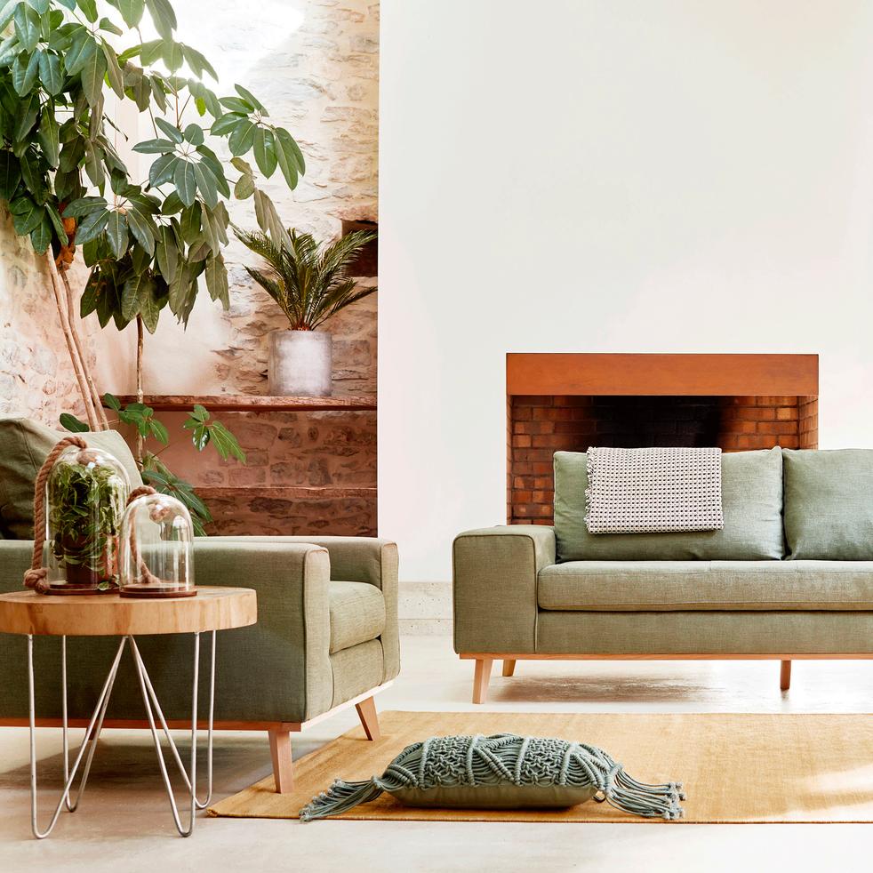 Bout de canapé en rondin de bois-POLOWA
