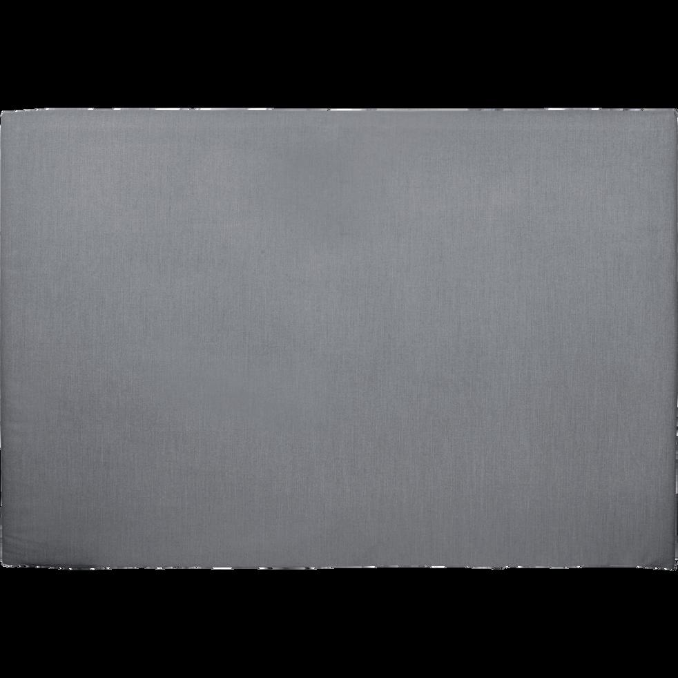 housse pour t te de lit topaze gris restanque l160 cm. Black Bedroom Furniture Sets. Home Design Ideas