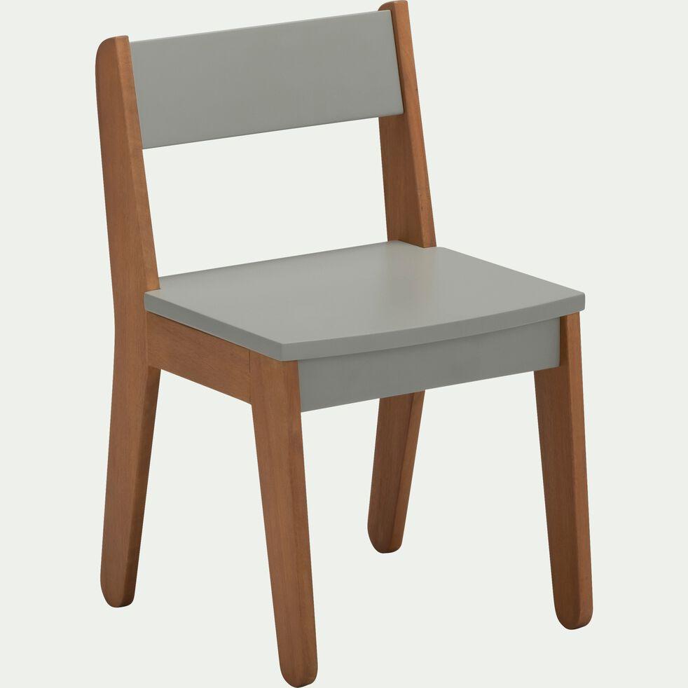 Chaise en acacia pour enfant - vert olivier-RAPHAEL