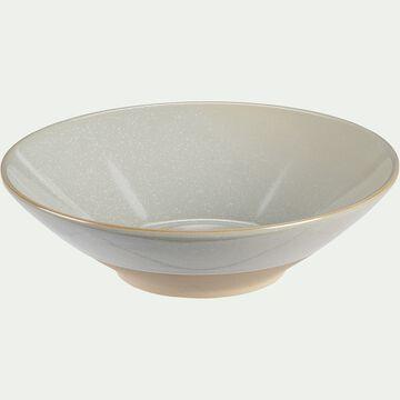 Assiette creuse en grès gris D25cm-ESQUIROU