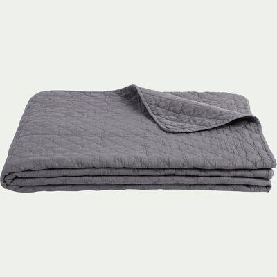 Couvre-lit en polyester effet lavé - gris restanque 180x230cm-THYM