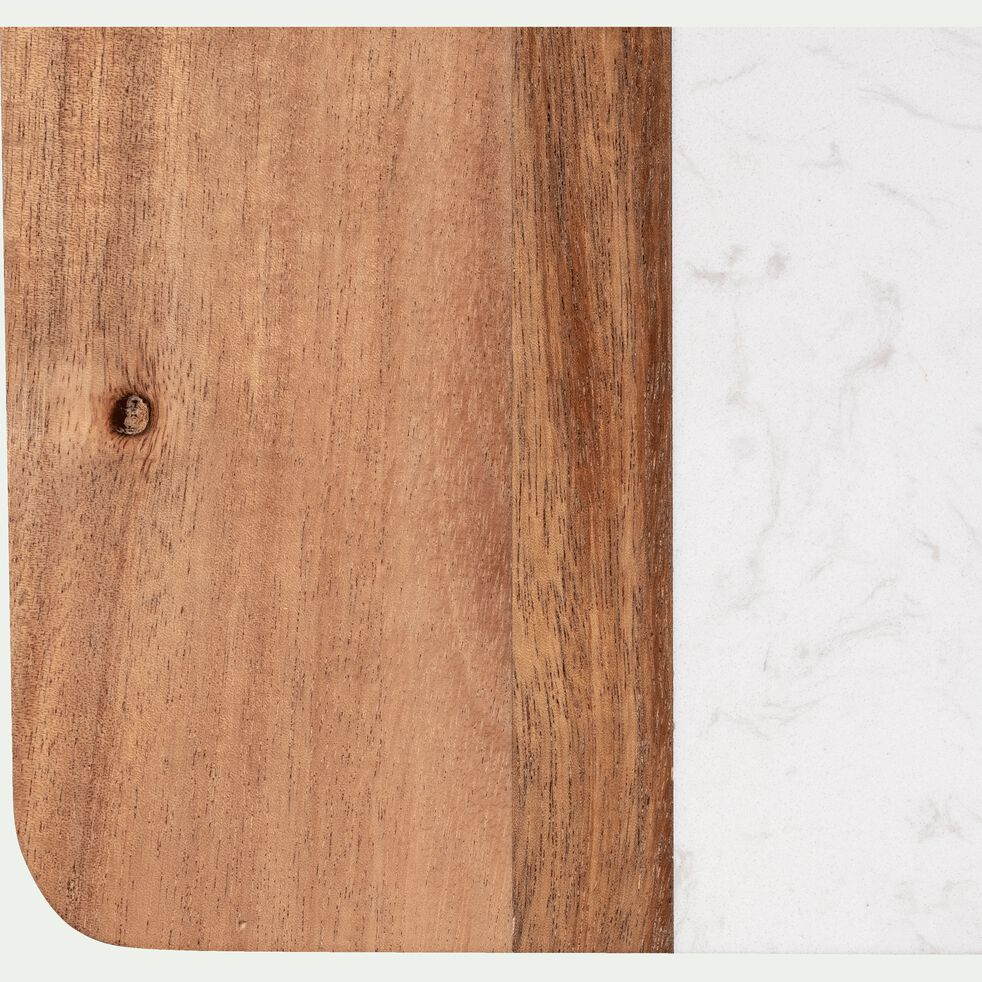 Planche à découper en acacia et marbre 31X19cm-MAUBRE