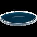 Assiette à dessert en faïence bleu figuerolles D20cm-CAMELIA