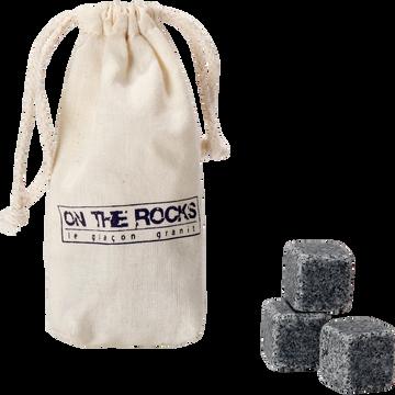 Lot de 6 glaçons en granit-Rocks