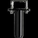 Pied de sommier central noir H18 à 27 cm-PIED