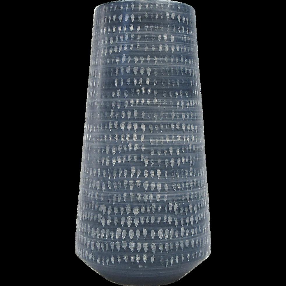 Vase en céramique bleu marine h33cm-AMAZONE