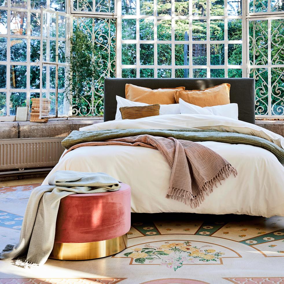 housse de couette en coton blanc capelan 260x240cm calanques 260x240 cm promotions alinea. Black Bedroom Furniture Sets. Home Design Ideas