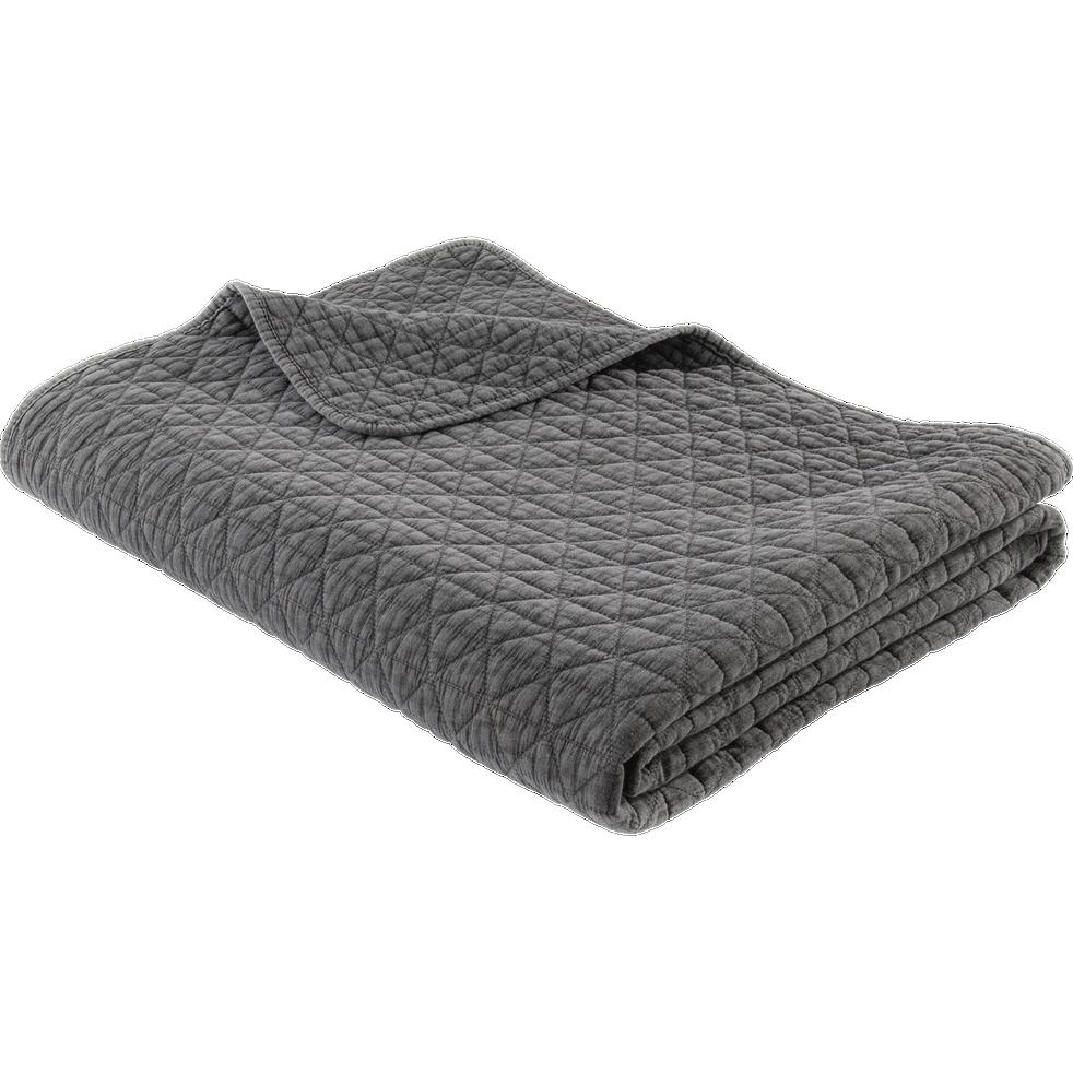 Jeté de lit gris 180x230cm-TRIA