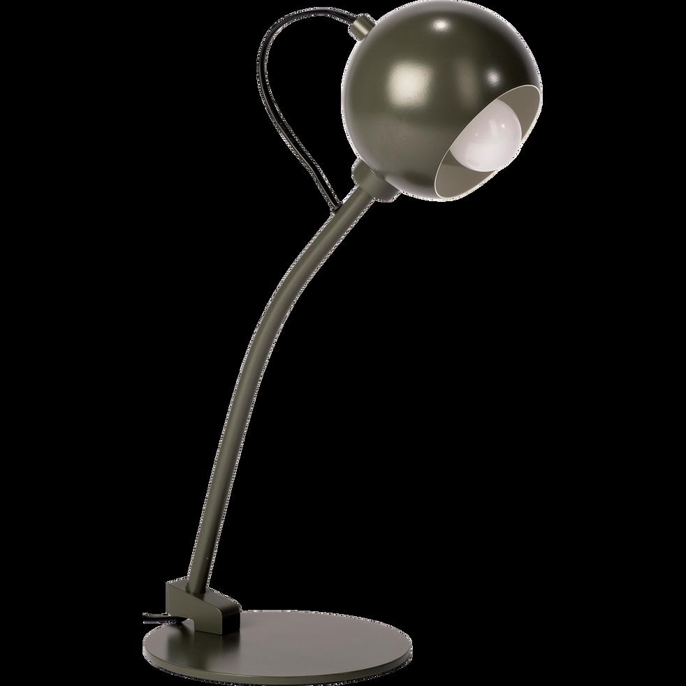 Lampe en métal vert cèdre H45cm-BALL