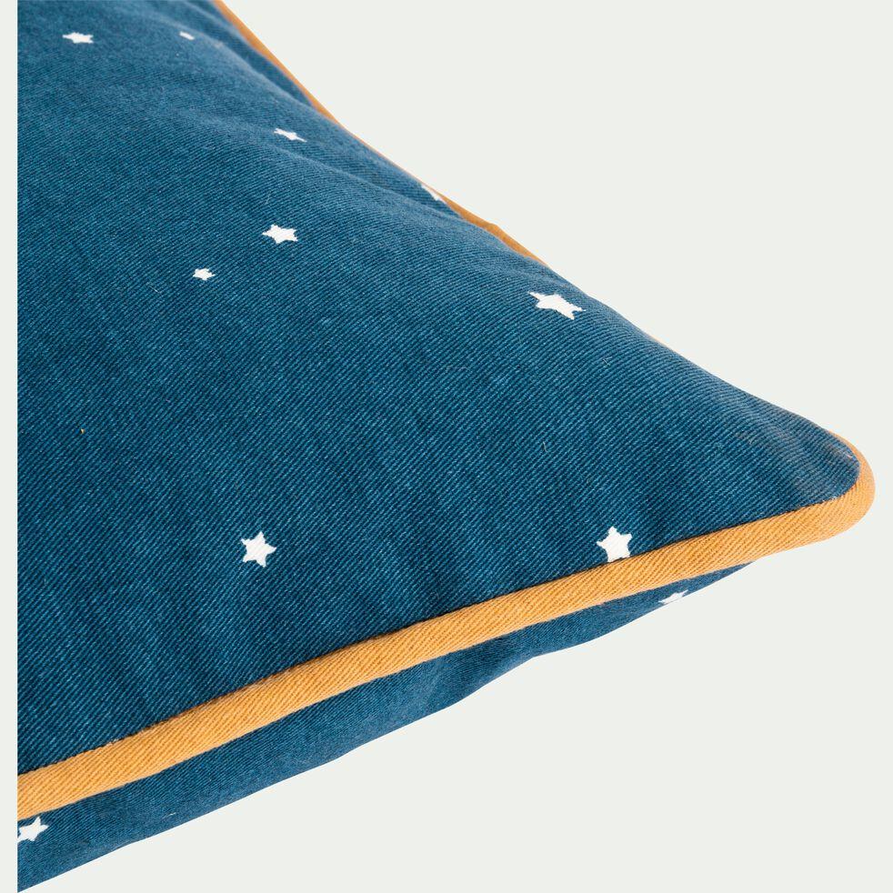 Coussin imprimé 40X40 cm bleu figuerolles-ETOILES
