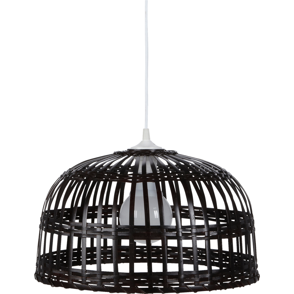 Suspension en bambou tressé marron D40cm-PHUKET