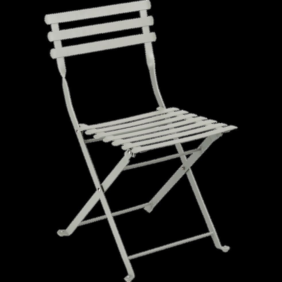 Chaise de jardin enfant vert olivier-CERVIONE