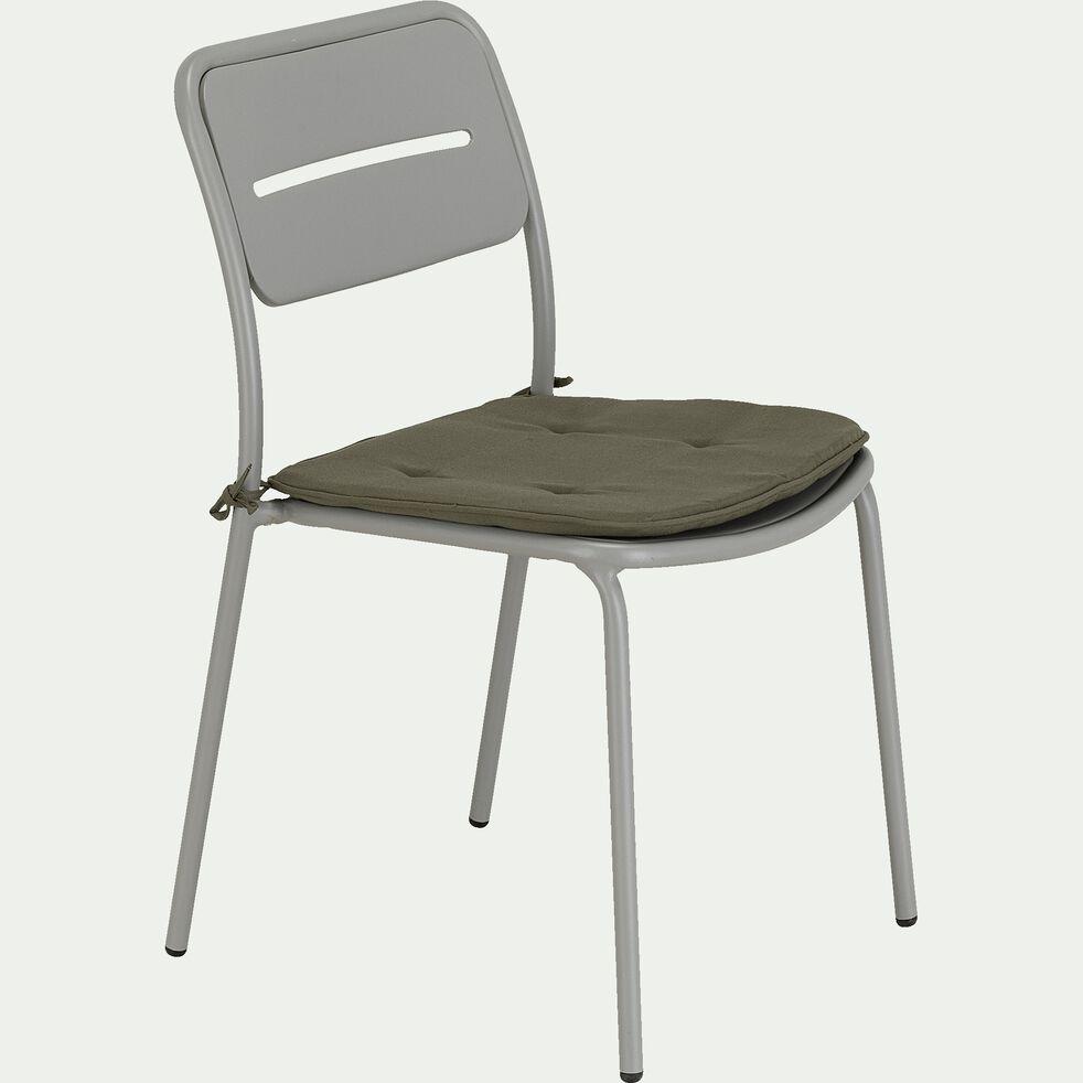 Chaise de jardin en acier - gris restanque-Inacio